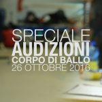 Audizioni corpo di ballo del nuovo programma musicale di Paolo Bonolis